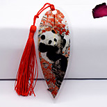 Red Maple Leaf Vein Bookmark Features Panda Chinese National Treasure Leaves Chinese Wind Business Customized Gifts