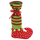 Lovely Santa Claus Elf Shoe Boot Suspenders Pant Candy Gift Bag for Christmas Decoration