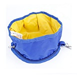 Portable Green/Black/Blue/Grey Folding Waterproof Outdoor Food Bowl for Pets Dogs and Cats