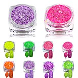 3g Nail Cheese Glitter Dust Powder Nail Art Tips Pigment Decorations Nail Powder Dust for Women DIY SN01-08
