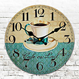 1PC Mute Wall Clock Fashion  Sitting Room Bedroom Wall Clock  Quartz Clock