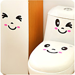 A Set Of Creative Personality Home Furnishing The Toilet Stickers