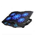 Adjustable LED Screen Smart Control Laptop Cooling Pad with 5 Fans