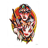 1pc Water Transfer Body Arm Art Temporary Tattoo Sticker Women Men Blood Sheep Indian Hunter Tattoo HB-346