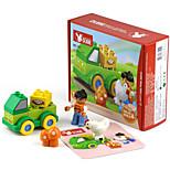 Building Blocks For Gift  Building Blocks Circular / Square / Car Plastic Above 3 Rainbow Toys