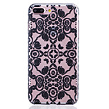 TPU Material Black Flowers Pattern Painted Slip Phone Case for iPhone 7 Plus/7/6s Plus / 6 Plus/6S/6/SE / 5s/5/5C