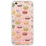 Cartoon Macaron Pattern TPU Ultra-thin Translucent Soft Back Cover for Apple iPhone 6s Plus/6 Plus/ 6s/6/ SE/5s/5
