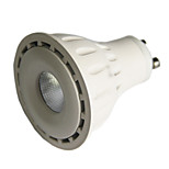 8w 24Degree GU10 LED Spotlight MR16 1 COB 550 lm Warm White / Cool White Dimmable AC 220-240 / AC 110-130 V 1 pcs