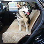 Dog Car Seat Cover Pet Mats & Pads Waterproof Foldable Black Brown Beige Plush