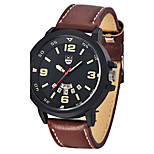 Top Brand Mens Sports Watches Male Leather Army Watch Clock Men Date Quartz Wrist Watch Military Watch