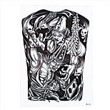 1pc Black White Impermanence Ghost Death Tattoo Temporary Women Men Body Art Tattoo Sticker HB-223