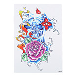 1pc DIY Temporary Tattoo Body Arm Skull Rose Flower Art Women Men Tattoo Paste Paper Sticker HB-239