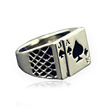 Men's Fashion Alloy Ring Vintage Playing Card Personality Statement Rings Casual/Daily 1pc
