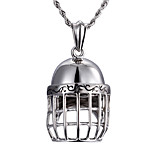 2016 New 316L Stainless Steel Fencing Mask Pendant Long Chain Necklace Fashion Cool Accessory Jewelry Boyfriend Gift