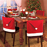 4pcs Fashion Santa Clause Cap Red Hat Furniture Chair Back Cover Christmas Dinner Table Party Xmas New Year Decoration
