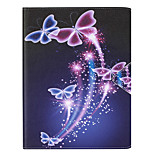 Butterfly Painted PU Leather Material Flat Bracket for iPad 234