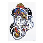 1pc Unscented DIY Women Men Temporary Body Art Tattoo Wish Belief White Elephant God Tattoo Sticker HB-291