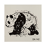 1pc Waterproof Tattoo Panda Small Temporary Tattoo Sticker 6*6cm