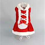 Dog Tuxedo Red Dog Clothes Winter / Spring/Fall Britsh Keep Warm