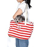 Navy Style Red/Blue Stripe Design Portable Pets Travel Bag Shoulder Pet Carrier for Pets Dogs and Cats