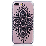 Painted Flower Pattern Slip Transparent TPU Material Phone Case for  iPhone 7 7 Plus 6s 6 Plus SE 5s 5 5C