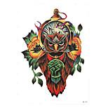 1pc Owl Tattoo Waterproof Body Art Arm Flower Clock Temporary Tattoo Sticker Paste Design Decoration HB-259