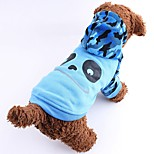 Cute Cartton Pattern Coat with Hoodie for Pets Dogs (Assorted Sizes and Colours)