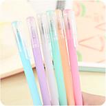 Fresh Jelly Black Gel Pen(10PCS)
