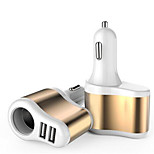 Universel Multi Ports Car Charger for iPad iPhone 7/7Plus/6s/6sPlus/5/4 and Other Cellphones