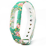 Colorful Floral Pattern Strap Rubber Band for Xiaomi Miband / 1S