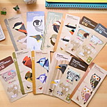 Korea Stationery Cute Cartoon Animals Colored Magnetic Metal Bookmark Gift Mini Pen Entrained Page
