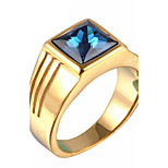 Men's Fashion Vintage Personality 316L Titanium Steel Engraved Gem Statement Rings Casual/Daily Accessory