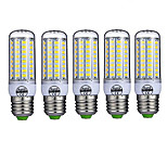 5pcs 72LED E27 LED Corn Lights 5730 LED Cool Warm White Lights Lamp Bulb(AC220-240V)