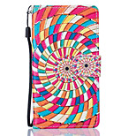 Color Flower Pattern PU Leather Full Body Case with Stand for Huawei Y560 Y5 II Honor5C Honor8
