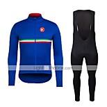 KEIYUEMSpring/Summer/Autumn Long Sleeve Cycling JerseyLong Bib Tights Ropa Ciclismo Cycling Clothing Suits #L115