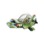 Building Blocks For Gift  Building Blocks Model & Building Toy Fighter Plastic Above 6 Green / Gray Toys