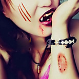 5pcs Halloween Zombie Wound Scar Stitch Waterproof Temporary TATTOO Body Sticker