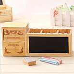 South Korea Pen Creative Fashion Pastoral Lovely Wooden Drawers With A Blackboard