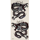 1pc Halloween Horror Waterproof Tattoo Dragon Big Temporary Tattoo Sticker 18.5*9cm