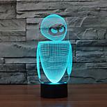 調光3dが率いるロボットタッチ夜の光7colorful装飾雰囲気ランプノベルティ照明クリスマスライト