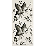 1pc Waterproof Tattoo Grey Butterflies Temporary Tattoo Sticker 18.5*9cm