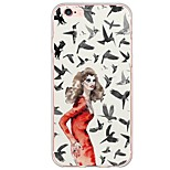 iPhone 7 7Plus Sexy Lady Pattern TPU Ultra-thin Translucent Soft Back Cover for iPhone 6s 6 Plus 5s 5 5E