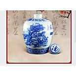 Jingdezhen Ceramic Seal Retro Black Glazed Relief Atmosphere 3 Kg Bottle