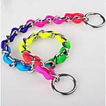 Dog Collar Adjustable/Retractable / Safety Rainbow Multicolor Stainless Steel