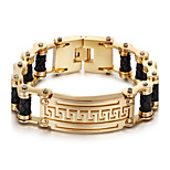 Kalen New 18K Dubai Gold Plated Charm Bracelet 316L Stainless Steel Link Chain&Leather Bracelet Fashion Accessories