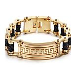 Kalen New 18K Dubai Gold Plated Charm Bracelet 316L Stainless Steel Link Chain&Leather Bracelet Fashion Accessories