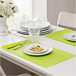 Rectangle Placemat Table Mat Anti-fouling EVA(Random Colour)