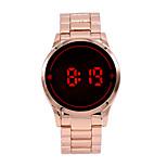 Fashion Men Women Electronic LED Touch Gold Band Watch Casual Sports Digital Watch New Men Male Watch