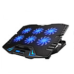 Adjustable LED Screen Smart Control Laptop Cooling Pad with 6 Fans