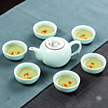 1PC Slap-Up Atmospheric Family Entertainment Ceramics Tea set SEVEN-PIECE Cup Teapot